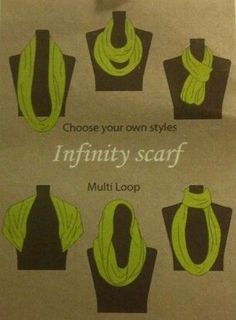 Just a few ideas for our infinity scarf lovers. We got a new shipment in today of winter infinity scarves.  Hurry in before they're gone.