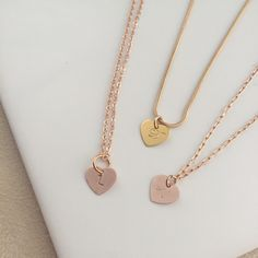 Feeling the love with our new rose gold or gold heart - personalised with your initial and birthstone! The perfect gift!