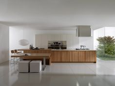open living room and kitchen ideas design sample photos Living Room And Kitchen Open Floor Design Ideas Wooden Kitchen, Kitchen Dining, Kitchen Decor, Dining Area, Kitchen Ideas, Beautiful Kitchens, Cool Kitchens, Modern Kitchens, Contemporary Kitchen Design