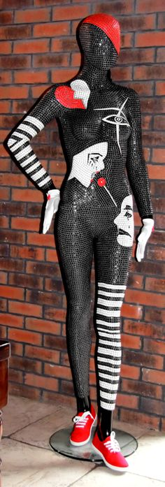 "www.mosaicsart.co.uk · Awesome & luxury decorative Mosaics Art London Mannequin ""Pantomime"" · 15 000 handcrafted ceramic tiles!"