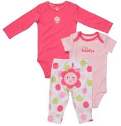 carter's baby girl clothes for the spring   carter s girls 3 piece flower set