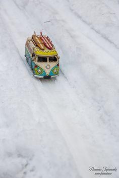 Базик на зимней трассе