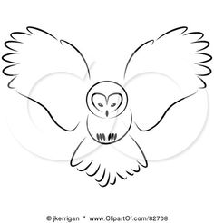flying owl drawing - Google Search