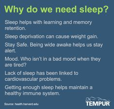 Sleep: Why Do We Need It?