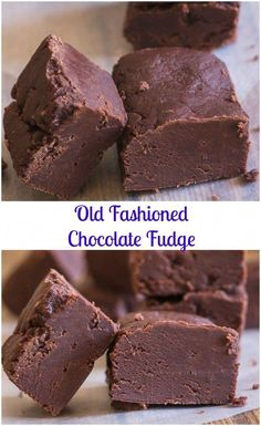 Old Fashioned Chocolate Fudge, creamy and slightly crumbly this melt in your mouth homemade fudge is the best. Homemade Fudge, Homemade Candies, Homemade Chocolate, Chocolate Recipes, Homemade Sweets, Homemade Recipe, Chocolate Fudge Cake, Fudge Brownies, Chocolate Chocolate