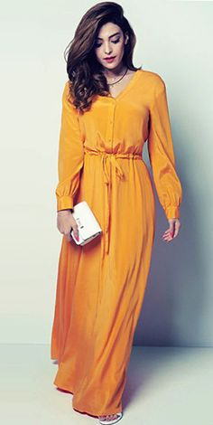 long sleeve maxi dresses maxi skirt and long sleeve jumpsuit from DKNY Ramadan Collection available to buy purchase for sale at Mode-sty