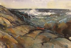 Rocks, watercolor 26 x 36 Watercolours, Rocks, Painting, Art, Art Background, Painting Art, Kunst, Paintings, Stone