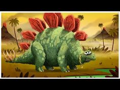 """Stegosaurus,"" Dinosaurs Songs by StoryBots Dinosaur Songs For Preschool, Dinosaur Videos, Dinosaur Activities, Preschool Activities, Preschool Social Studies, Nursery Rhymes Lyrics, Dinosaur Garden, Kindergarten Music, Manualidades"