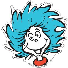 Thing 1 Face Happy Dr Seuss The Cat in the Hat svg dxf eps pdf png Dr. Seuss, Dr Seuss Art, 1 Clipart, Free Clipart Images, Dr Seuss Clipart, Free Images, Free Coloring, Coloring Pages