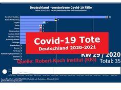 Covid-19 Tote Deutschland 2020-2021 (nach Kalenderwochen) Quelle: Robert... Videos, Youtube, Hessen, Germany, Youtubers, Youtube Movies