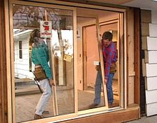 Enclosed porches with doors enclosed porch sliding glass doors to living room outside for Installing sliding doors exterior