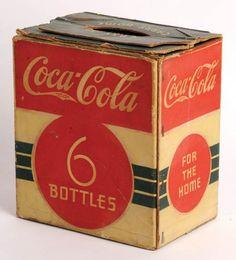 279: 1930'S COCA-COLA SIX BOTTLE BOX : Lot 279