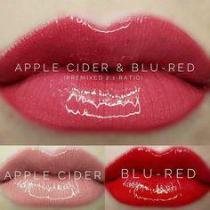 Lipsense Lip Colors 2019 - Apple Cider and Blu Red LipSense combination. Love these 2 colors alone and even. Red Lipsense, Lipsense Lip Colors, Lipstick Colors, Bright Lipstick, Maroon Lipstick, Sheer Lipstick, Winter Lipstick, Matte Lipstick, Lip Sense