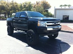 lifted Silverdo Chevrolet truck