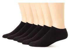 Hanes Men's 6 Pack Classics No Show Socks, Sock Size: / Shoe Size: Socks Loafers With Socks, Classic Cushions, Trouser Socks, Dress Trousers, Jumpsuit, Black Socks, Athletic Socks, No Show Socks, Ankle Socks
