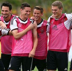 Mats Hummels, Julian Draxler, Erik Durm and Matthias Ginter.
