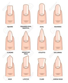 nails shape Check 12 different nail shapes names in 2020 and wear our top 5 acrylic nail shapes now! Perfect for all short, long, almond, coffin, & fake nail shapes! Acrylic Nail Shapes, Best Acrylic Nails, Acrylic Nail Art, Summer Acrylic Nails, Types Of Nails Shapes, Different Nail Shapes, Cute Nails, My Nails, Cute Simple Nails