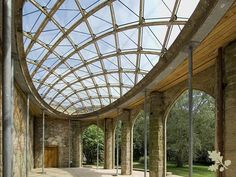 A timber frame gridshell for a historic orangery #organicarchitecture