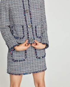 Zara United States, Blazer Buttons, Tweed Jacket, Blazers For Women, What I Wore, Get Dressed, Dress Up, Cover Up, Suits