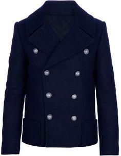 Wool Pea Coat - Lyst