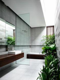 badgestaltung ideen bader ideen badezimmer mit vielen grunen pflanzen
