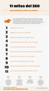 11 mitos del SEO a tener en cuenta. - #infografía