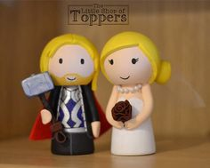 Wedding Cake Topper Marvel Thor inspried custom made Wedding Cake Toppers, Wedding Cakes, Superhero Cake Toppers, Tie Colors, Bride Hairstyles, Colorful Flowers, Special Day, Thor, Our Wedding
