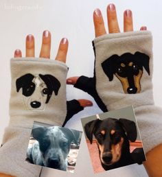 #Personalized TWO #Dogs Gift   https://www.etsy.com/listing/162245592/personalized-two-dogs-gift-fingerless