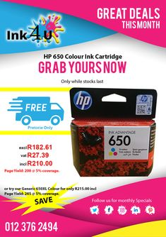 🖨 Get your Printing Cartridges at and Save ! 🚛 Free Delivery In Pretoria.