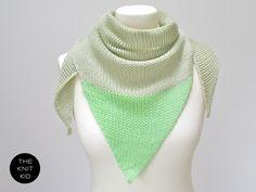 pastel green mint triangle scarf merino theknitkid. €39,90, via Etsy.