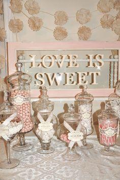 """Love is Sweet"" candy buffet"
