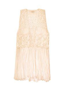 Macrame Vest in Cream