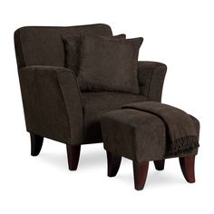 Accent and Occasional Furniture - Celeste Chair Set w/ Pillows and Throw