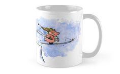Flying Pig - Super Ski Jump Pig Coffee Mug