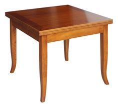 Flip-top square table 80-160 cm - ItalianStyle by ArteFerretto. Structure in solid beech wood.