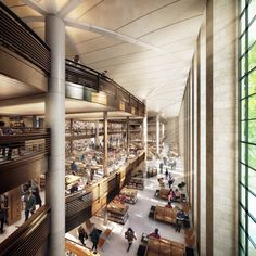 New York Public Library's Central Library Plan, designed by Norman Foster.