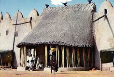 "Africa | ""The Sultan's Palace""  Rey Bouba.  Cameroon.  ca. 1973 || Scanned postcard; published Boireau - Yaoundé"