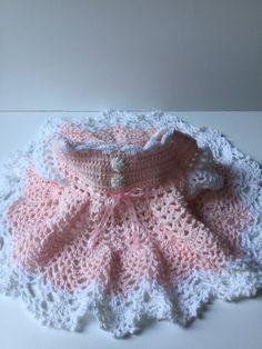 Baby girl dress, pink baby dress by TheNanimalShop on Etsy