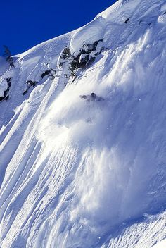 Mike Ranquet on a steep face near Whistler by dspphoto