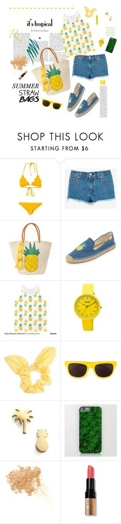 """""""It's tropical: straw bags"""" by melliflusous ❤ liked on Polyvore featuring Marysia Swim, rag & bone, Sensi Studio, Soludos, Crayo, Dorothy Perkins, Moschino, Seoul Little, Bare Escentuals and Bobbi Brown Cosmetics"""