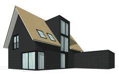 Voorzijde nieuwe huis.  MIX architectuur, Ede