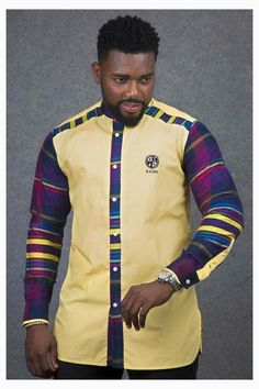 African Fashion – Designer Fashion Tips African Shirts For Men, African Dresses Men, African Clothing For Men, African Attire, African Wear, African Clothes, African Inspired Fashion, African Print Fashion, Africa Fashion