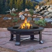 Real Flame Edwards Wood Burning Fire Pit