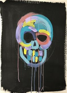 Skull With Drips by Bradley Theodore