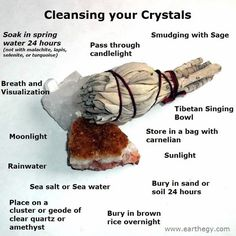 Cleansing your crystals. I smudge with frankincense.