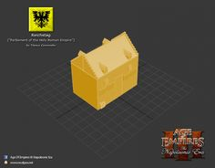 New building model: Reichstag image - Napoleonic Era mod for Age of Empires III: The Asian Dynasties Holy Roman Empire, Age Of Empires, Armies, Musketeers, Stage, German, Banner, Asian, Building
