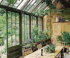 indoor gardening | outdoor gardening | bringing the outside in | indoor garden Outdoor Rooms, Outdoor Gardens, Outdoor Living, Indoor Outdoor, Plants Indoor, Gazebos, Conservatory Garden, Conservatory Interiors, Conservatory Design
