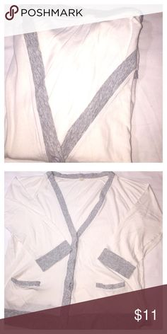 J. Crew gray and white cardigans good condition J. Crew gray and white cardigans good condition J. Crew Sweaters Cardigans