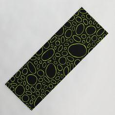 Organic - Lime Green Yoga Mat by laec | Society6