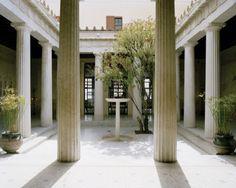 courtyard interior Habitually Chic®: Villa Kerylos